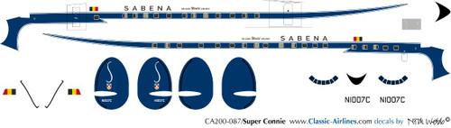 1/200 Scale Decal Sabena Super Constellation