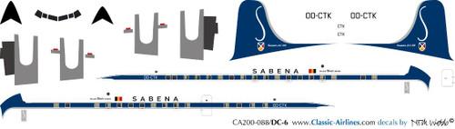 1/200 Scale Decal Sabena DC-6