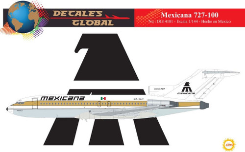 1/144 Scale Decal Mexicana 727-100