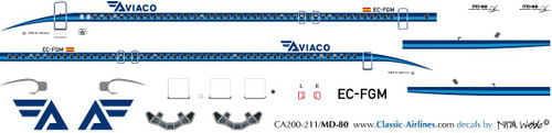 1/200 Scale Decal Aviaco MD-80