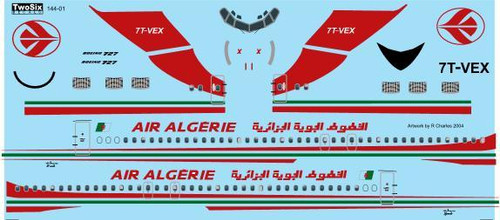 1/144 Scale Decal Air Algerie 727-200