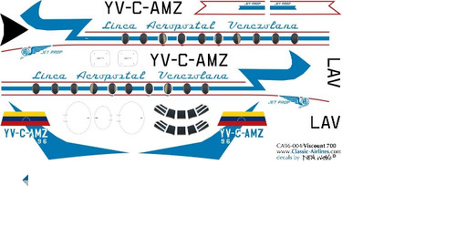1/96 Scale Decal LAV - Aeropostal Viscount 700