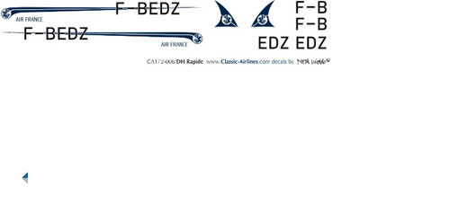 1/72 Scale Decal Air France DH Rapide