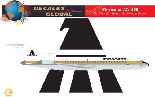 1/144 Scale Decal Mexicana 727-200