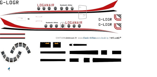 1/72 Scale Decal LoganAir Jetstream 31