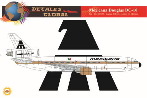 1/144 Scale Decal Mexicana DC-10