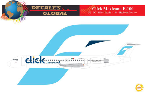1/144 Scale Decal CLICK Mexicana F-100