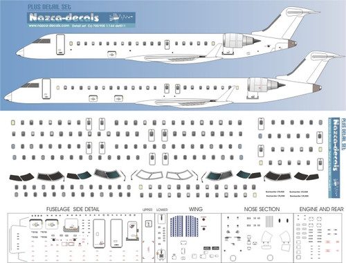 1/144 Scale Decal Detail Sheet CRJ-700 / 900