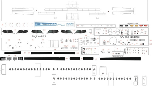1/144 Scale Decal Detail Sheet Dash-8-400