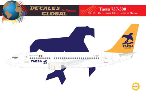 1/144 Scale Decal Taesa 737-300