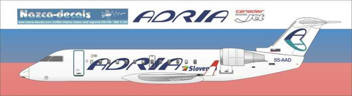 1/144 Scale Decal Adria Airways CRJ