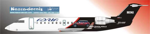 1/144 Scale Decal Adria Airways CRJ Mini Cooper