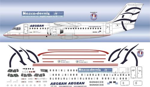 1/144 Scale Decal Aegean BAe146-300 / RJ-100