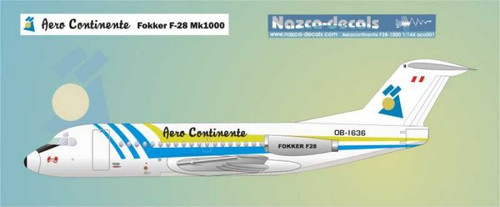 1/144 Scale Decal Aero Continente F-28
