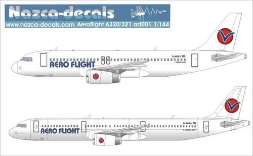 1/144 Scale Decal Aero Flight A-320 / 321