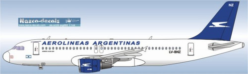 1/144 Scale Decal Aerolineas Argentinas A-320