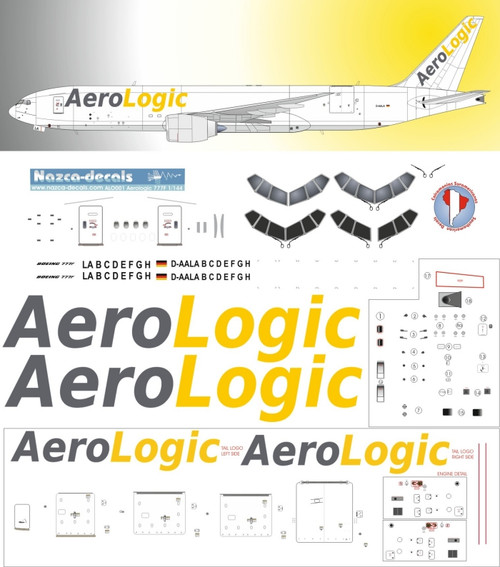 1/144 Scale Decal Aerologic 777F
