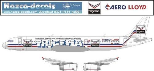 1/144 Scale Decal Aero Lloyd A-321 Trigema Livery