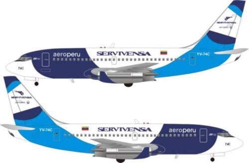 1/144 Scale Decal Aero Peru / Servivensa 737-200