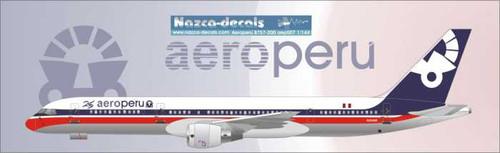 1/144 Scale Decal Aero Peru 757-200 AeroMexico Livery