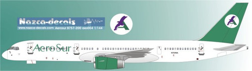 1/144 Scale Decal AeroSur 757-200