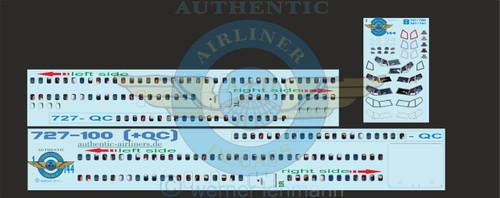 1/144 Scale Decal Lifelike Cockpit / Windows / Doors 727-100