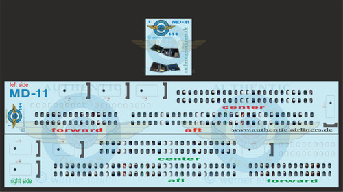 1/144 Scale Decal Lifelike Cockpit / Windows / Doors MD-11