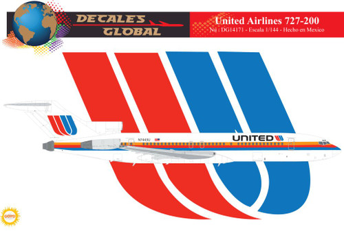 1/144 Scale Decal United 727-200