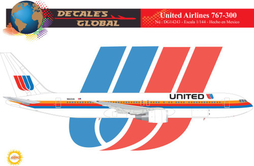 1/144 Scale Decal United 767-300