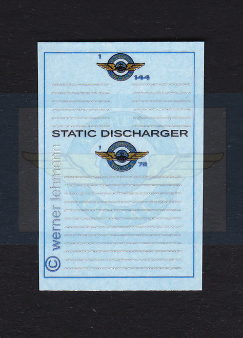 1/144 Scale Decal 3-D 707 thru 737 Static Dischargers