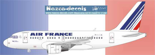 1/144 Scale Decal Air France A-318