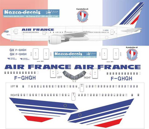 1/144 Scale Decal Air France 767-300