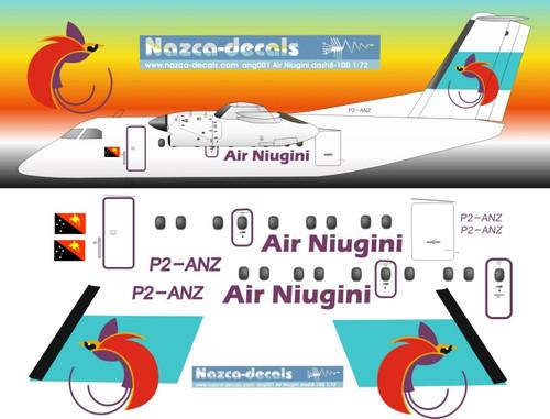 1/72 Scale Decal Air Niugini Dash-8