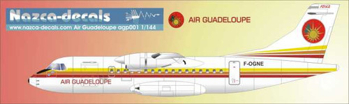 1/144 Scale Decal Air Guadeloupe ATR-42