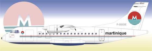 1/144 Scale Decal Air Martinique ATR-42