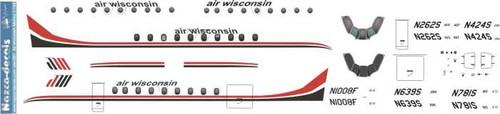 1/144 Scale Decal Air Wisconsin Metro II and III