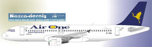 1/144 Scale Decal Air One A-320