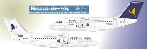 1/144 Scale Decal Air One BAe-146