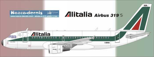 1/144 Scale Decal Alitalia A-319