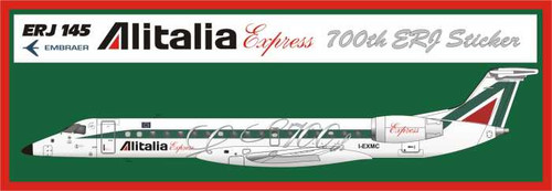 1/144 Scale Decal Alitalia Express ERJ-145 700th ERJ