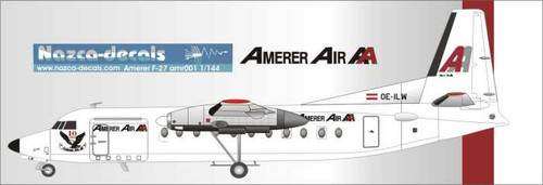 1/144 Scale Decal Amer Air F-27