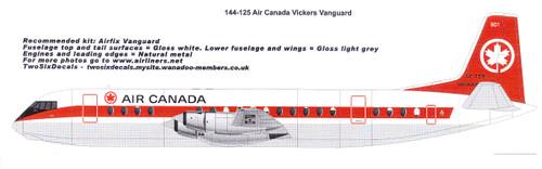 144-125 Air Canada Vickers Vanguard