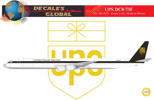 1/144 Scale Decal UPS DC8-73F