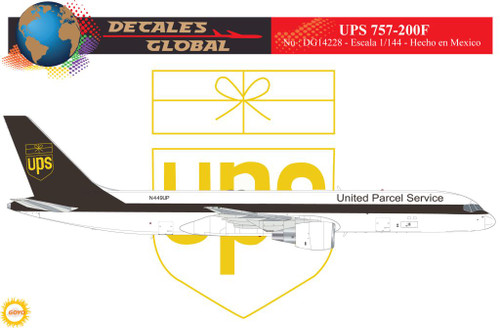 1/144 Scale Decal UPS 757-200F