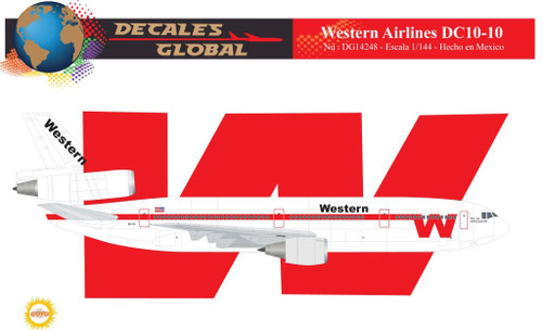 1/144 Scale Decal Western DC-10