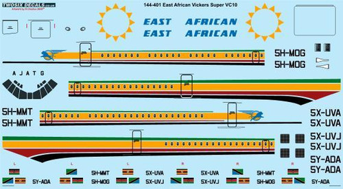 1/144 Scale Decal East African Airways Vickers Super VC10