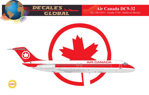 1/144 Scale Decal Air Canada DC9-30