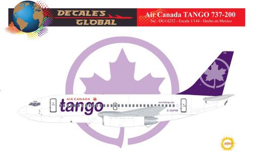 1/144 Scale Decal Air Canada Tango 737-200