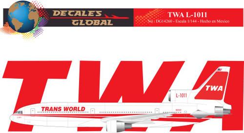 1/144 Scale Decal TWA L-1011