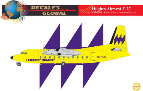 1/144 Scale Decal Hughes Airwest F-27